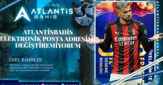 Atlantisbahis Elektronik Posta Adresimi Değiştiremiyorum